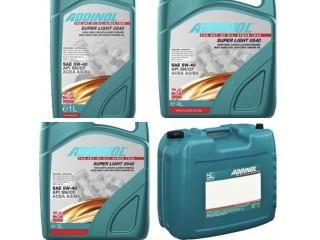 Синтетическое моторное масло ADDINOL Super Light 0540 5w40  1л, 4л, 5л, 20л