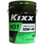 Cинтетическое моторное масло Kixx HD1 10W-40 (20л)
