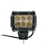 Светодиодная фара (LED) Лидер 18W прямоугольная ФЛ-022