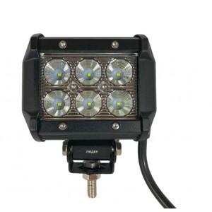 Светодиодная фара (LED) Лидер 18W прямоугольная ФЛ-55
