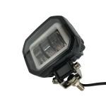 Светодиодная LED фара 30W 3 линзы СТГ и ДХО прямоугольная ФЛ-322