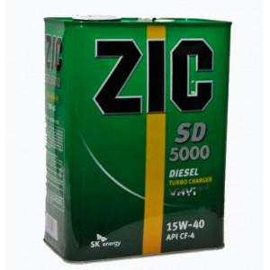 Минеральное моторное масло ZIC SD 5000 SAE 15W40 CF-4/SG (6)