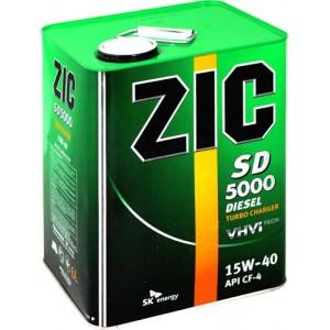 Минеральное моторное масло ZIC SD 5000 SAE 15W40 CF-4/SG (4)