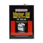 Оригинальное масло Toyota Motor Oil for Diesel CF 5W-30 (4)