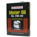 Оригинальное масло TOYOTA MOTOR OIL SL 5w-30 (4)