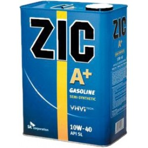 Полусинтетическое моторное масло ZIC A Plus SAE 5W30 SL (4)