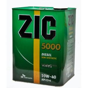 Полусинтетическое моторное масло ZIC 5000 SAE 10W40 CG/4SH (6)